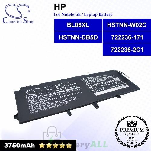 CS-HPE104NB For HP Laptop Battery Model 722236-171 / 722236-2C1 / BL06XL / HSTNN-DB5D / HSTNN-W02C