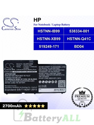 CS-HPE130NB For HP Laptop Battery Model 519249-171 / 538334-001 / BD04 / HSTNN-IB99 / HSTNN-Q41C / HSTNN-XB99