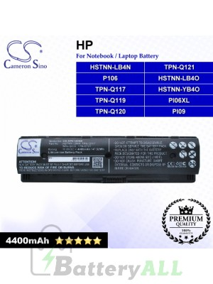CS-HPE140NB For HP Laptop Battery Model 709988-421 / HSTNN-LB40 / HSTNN-LB4N / HSTNN-LB4O / HSTNN-YB4O