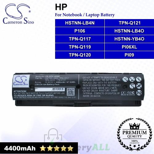 CS-HPE140NB For HP Laptop Battery Model 709988-421 / HSTNN-LB40 / HSTNN-LB4N / HSTNN-LB4O / HSTNN-YB4O
