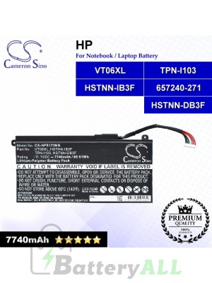 CS-HPE173NB For HP Laptop Battery Model 657240-151 / 657240-171 / 657240-251 / 657240-271 / 657503-001 / 996TA008H
