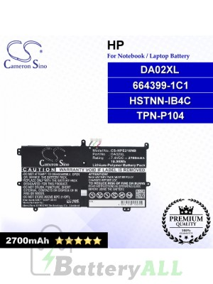 CS-HPE216NB For HP Laptop Battery Model 664399-1C1 / DA02XL / HSTNN-IB4C / TPN-P104