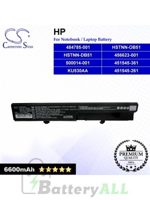 CS-HPF540HB For HP Laptop Battery Model 451545-261 / 451545-361 / 456623-001 / 484785-001 / 500014-001