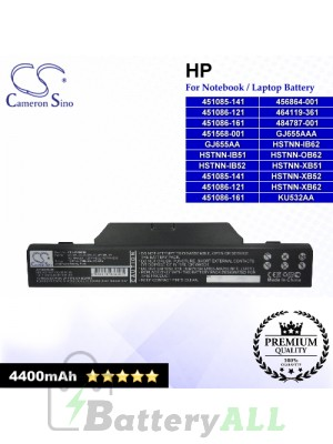 CS-HPF550NB For HP Laptop Battery Model 451085-141 / 451085-141 451086-121 451086-1 / 451086-121 / 451086-161