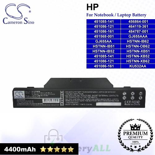 CS-HPF550NB For HP Laptop Battery Model 451085-141 / 451085-141 451086-121 451086-1 / 451086-121 / 451086-161