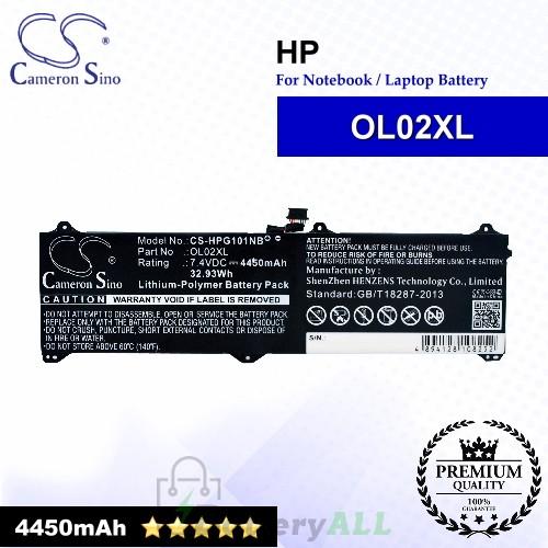 CS-HPG101NB For HP Laptop Battery Model OL02XL