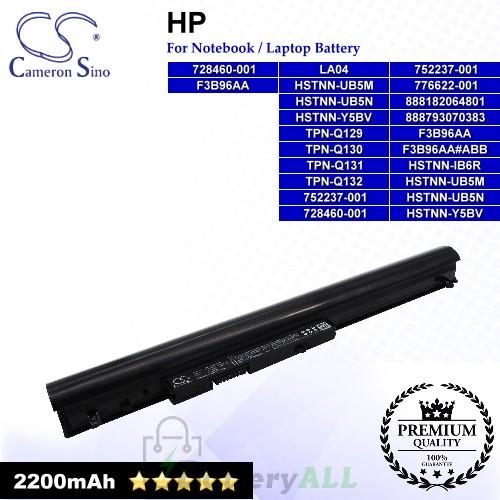 CS-HPG350NB For HP Laptop Battery Model 728460-001 / 740715-001 / 746641-001 / 752237-001 / 776622-001 / 888182064801