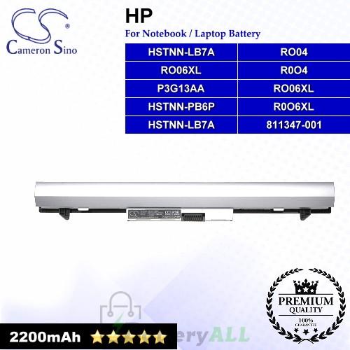 CS-HPG440NB For HP Laptop Battery Model 811347-001 / HSTNN-LB7A / HSTNN-PB6P / P3G13AA / R0O4 / R0O6XL