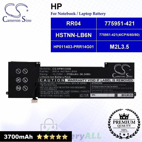 CS-HPM155NB For HP Laptop Battery Model 775951-421 / 775951-421(4ICP/6/60/80) / HP011403-PRR14G01