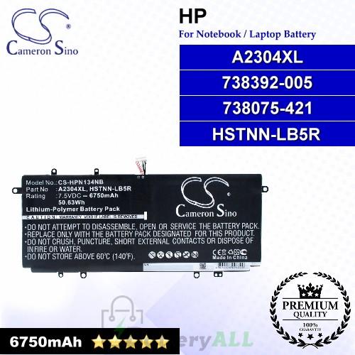 CS-HPN134NB For HP Laptop Battery Model 738075-421 / 738392-005 / A2304XL / HSTNN-LB5R