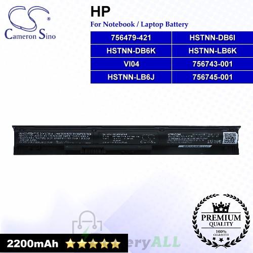 CS-HPR455NB For HP Laptop Battery Model 756479-421 / 756745-001 / HSTNN-DB6K / HSTNN-LB6J / HSTNN-LB6K