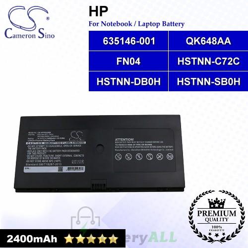 CS-HPR532NB For HP Laptop Battery Model 538693-251 / 538693-271 / 538693-961 / 580956-001 / 594637-221