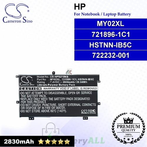 CS-HPS210NB For HP Laptop Battery Model 721896-1C1 / 721896-421 / 722232-001 / HSTNN-IB5C / HSTNN-LB5C