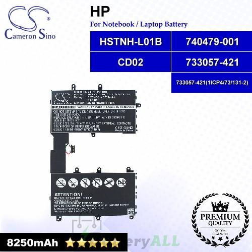 CS-HPT610NB For HP Laptop Battery Model 733057-421 / 733057-421(1ICP4/73/131-2) / 740479-001 / CD02