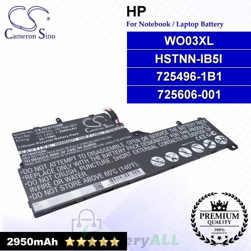 CS-HPX132NB For HP Laptop Battery Model 725496-1B1 / 725606-001 / HSTNN-IB5I / WO03XL