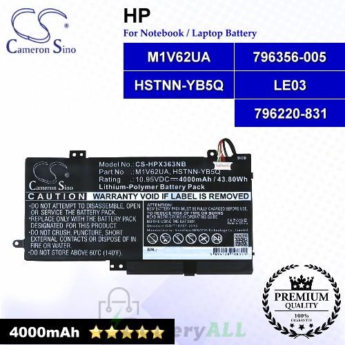 CS-HPX363NB For HP Laptop Battery Model 796220-831 / 796356-005 / HSTNN-YB5Q / LE03 / M1V62UA