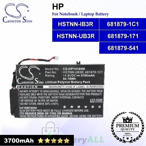 CS-HPY410NB For HP Laptop Battery Model 681879-121 / 681879-171 / 681879-1C1 / 681879-541 / 681949-001