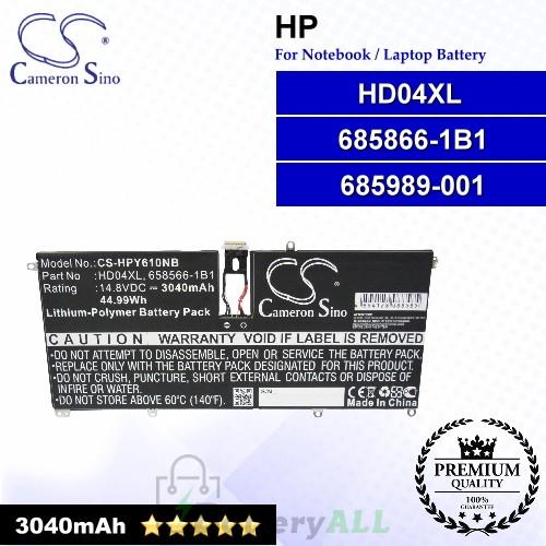 CS-HPY610NB For HP Laptop Battery Model 685866-1B1 / 685989-001 / HD04XL