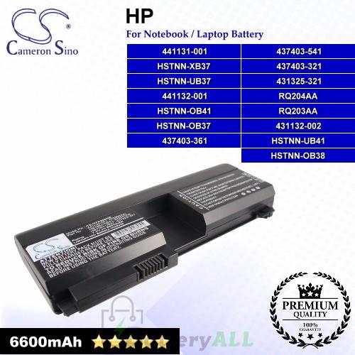 CS-HTX200HB For HP Laptop Battery Model 431132-002 / 431325-321 / 437403-321 / 437403-361 / 437403-541
