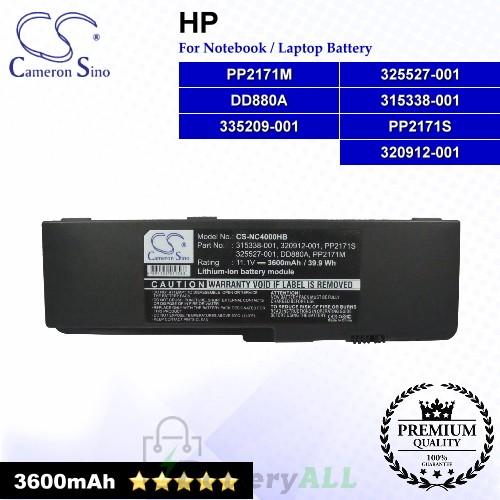 CS-NC4000HB For HP Laptop Battery Model 315338-001 / 320912-001 / 325527-001 / 335209-001 / DD880A / PP2171M