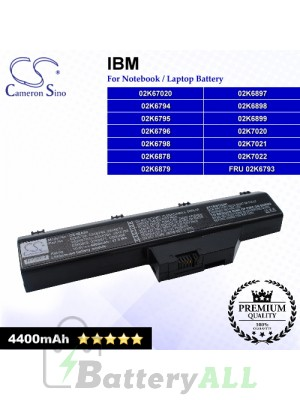 CS-IBA30 For IBM Laptop Battery Model 02K67020 / 02K6794 / 02K6795 / 02K6796 / 02K6798 / 02K6878 / 02K6879