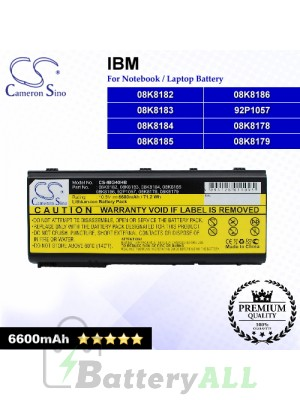 CS-IBG40HB For IBM Laptop Battery Model 08K8178 / 08K8179 / 08K8182 / 08K8183 / 08K8184 / 08K8185 / 08K8186