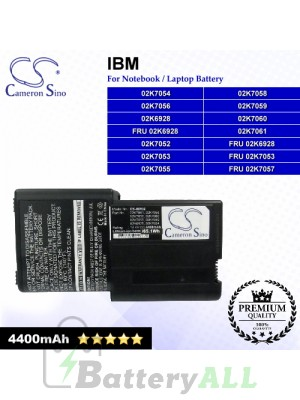CS-IBR32 For IBM Laptop Battery Model 02K6928 / 02K7052 / 02K7053 / 02K7054 / 02K7055 / 02K7056 / 02K7058