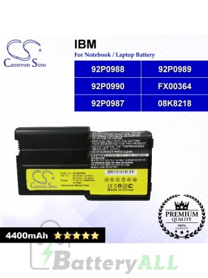 CS-IBR40E For IBM Laptop Battery Model 08K8218 / 92P0987 / 92P0988 / 92P0989 / 92P0990 / FX00364