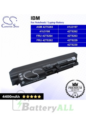 CS-IBT61NB For IBM Laptop Battery Model 41U3197 / 41U3198 / 42T5229 / 42T5230 / 42T5262 / 42T5263 / ASM 42T5265