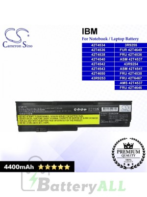 CS-IBX200NB For IBM Laptop Battery Model 42T4534 / 42T4536 / 42T4538 / 42T4540 / 42T4542 / 42T4543 / 42T4650