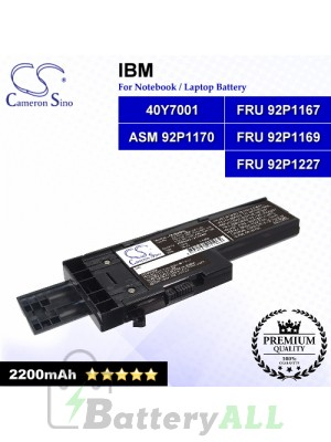CS-IBX60HL For IBM Laptop Battery Model 40Y7001 / ASM 92P1170 / FRU 92P1167 / FRU 92P1169 / FRU 92P1227