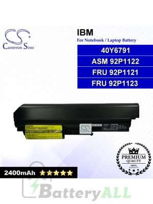 CS-IBZ60HB For IBM Laptop Battery Model 40Y6791 / ASM 92P1122 / FRU 92P1121 / FRU 92P1123