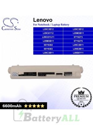 CS-IBS10HB For Lenovo Laptop Battery Model 55Y9382 / 55Y9383 / 57Y6273 / 57Y6275 / L09C3B11 / L09C3B12 (White)