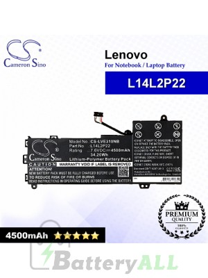 CS-LVE310NB For Lenovo Laptop Battery Model L14L2P22