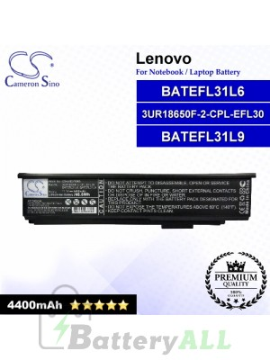 CS-LVE370NB For Lenovo Laptop Battery Model 3UR18650F-2-CPL-EFL30 / BATEFL31L6 / BATEFL31L9