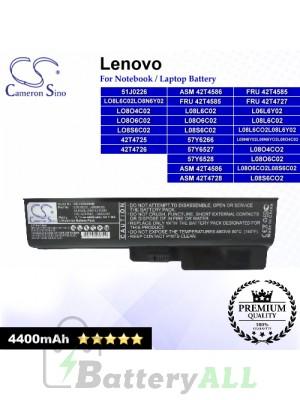 CS-LVG430NB For Lenovo Laptop Battery Model 42T4725 / 42T4726 / 51J0226 / 57Y6266 / 57Y6527 / 57Y6528