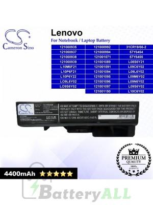 CS-LVG460NB For Lenovo Laptop Battery Model 121000935 / 121000937 / 121000938 / 121000939 / 121000992