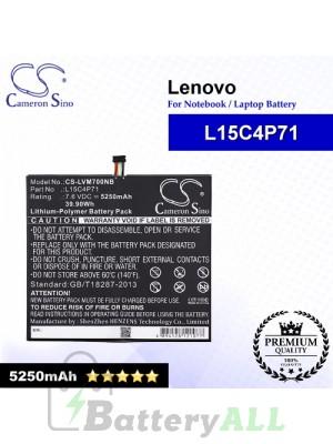 CS-LVM700NB For Lenovo Laptop Battery Model L15C4P71 / L15L4P71