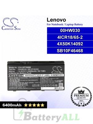 CS-LVP700NB For Lenovo Laptop Battery Model 00HW030 / 4ICR18/65-2 / 4X50K14092 / SB10F46468