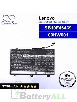 CS-LVS140NB For Lenovo Laptop Battery Model 00HW001 / SB10F46439