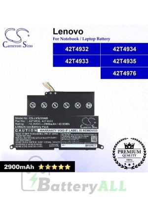 CS-LVS220NB For Lenovo Laptop Battery Model 42T4932 / 42T4933 / 42T4934 / 42T4935 / 42T4976