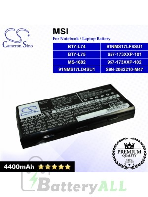 CS-MSR620NB For MSI Laptop Battery Model 91NMS17LD4SU1 / 91NMS17LF6SU1 / 957-173XXP-101