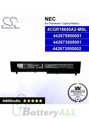 CS-MT8677NB For NEC Laptop Battery Model 442673500001 / 442673500002 / 442675900001 / 4CGR18650A2-MSL