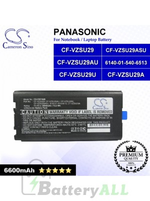 CS-CRF5NB For Panasonic Laptop Battery Model 6140-01-540-6513 / CF-VZSU29 / CF-VZSU29A / CF-VZSU29ASU