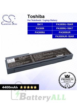 CS-TO8100 For Toshiba Laptop Battery Model B411 / PA3009 / PA3009U / PA3009U-1BAR / PA3009U-1BAT