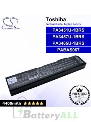 CS-TOA85HB For Toshiba Laptop Battery Model PA3451U-1BRS / PA3457U-1BRS / PA3465U-1BRS / PABAS067