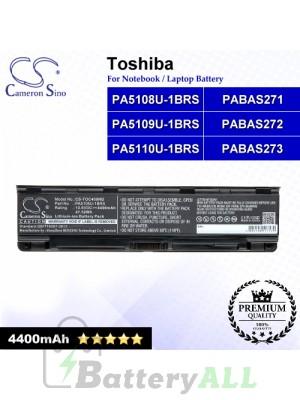 CS-TOC400NB For Toshiba Laptop Battery Model PA5108U-1BRS / PA5109U-1BRS / PA5110U-1BRS / PABAS271