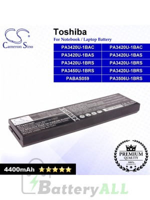 CS-TOL100HB For Toshiba Laptop Battery Model PA3420U-1BAC / PA3420U-1BAS / PA3420U-1BRS / PA3450U-1BRS