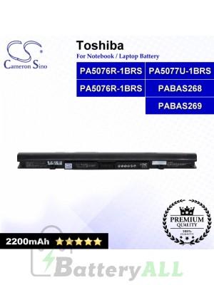 CS-TOL900NB For Toshiba Laptop Battery Model PA5076R-1BRS / PA5076U-1BRS / PA5077U-1BRS / PABAS268