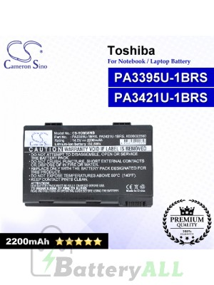 CS-TOM35NB For Toshiba Laptop Battery Model PA3395U-1BRS / PA3421U-1BRS